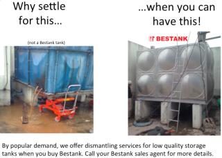 Low quality tanks dismantling