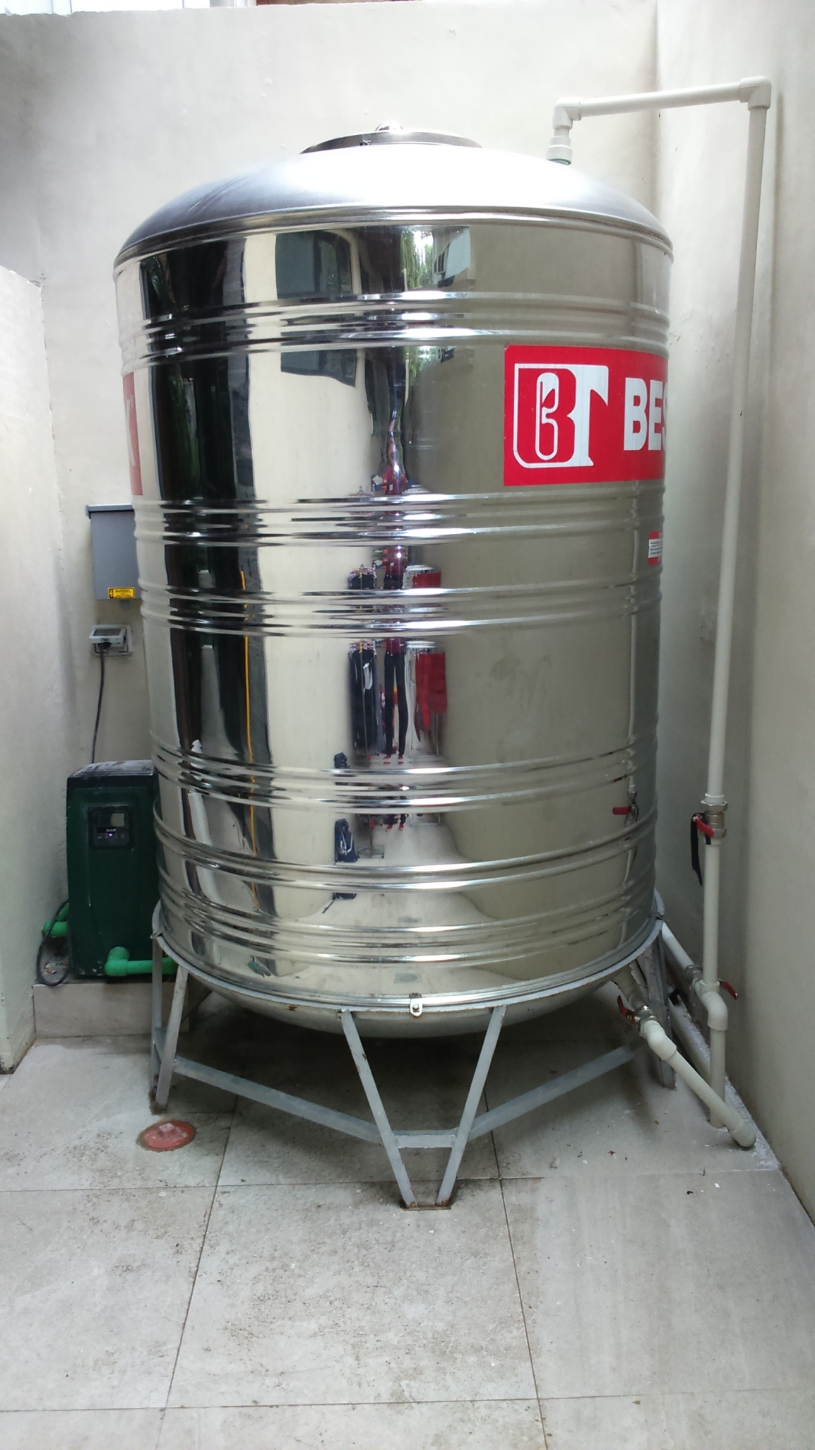 Esybox + Stainless Steel Storage Tank Residential Installation, Magallanes Village, MakatiCity